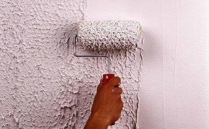 Структурная штукатурка стен своими руками